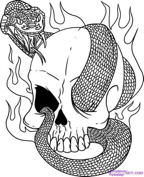 classic tattoo designs coloring book free three skull coloring pages
