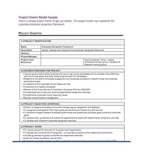 project charter template simple project charter exles journalingsage