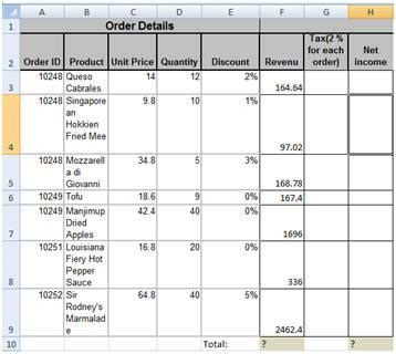 excel  exercises basic calculations sum function