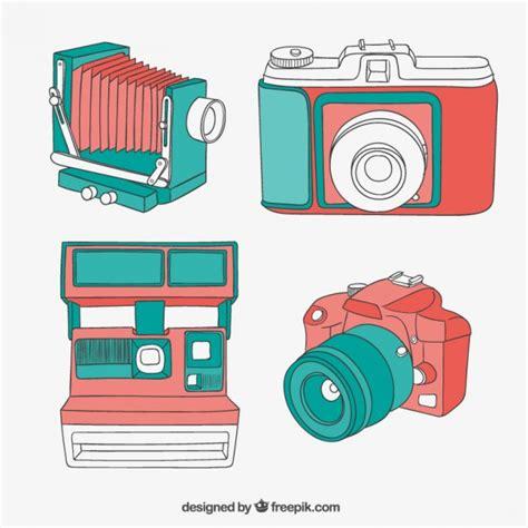 imagenes retro para dibujar c 225 maras de colores en estilo vintage descargar vectores