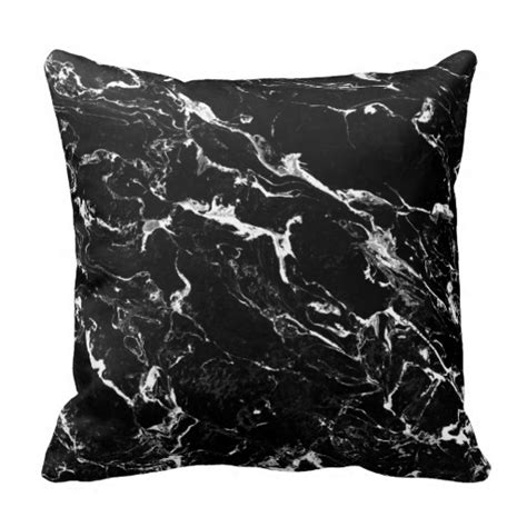 Black Pattern Throw | black and white modern marble pattern throw pillow zazzle