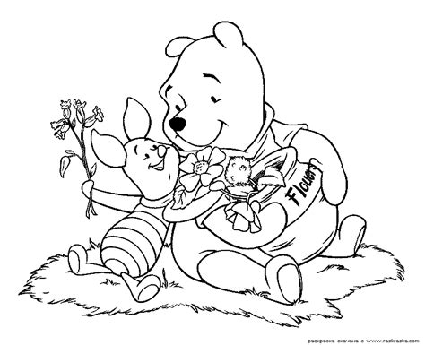 free coloring pages of pooh friends fall