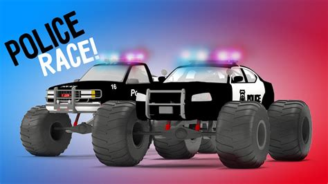 3d police monster truck police monster truck race 3d video for kids