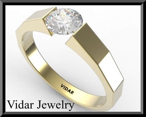 Tension Set Engagement Rings by 1 Carat Engagement Ring Vidar Jewelry Unique