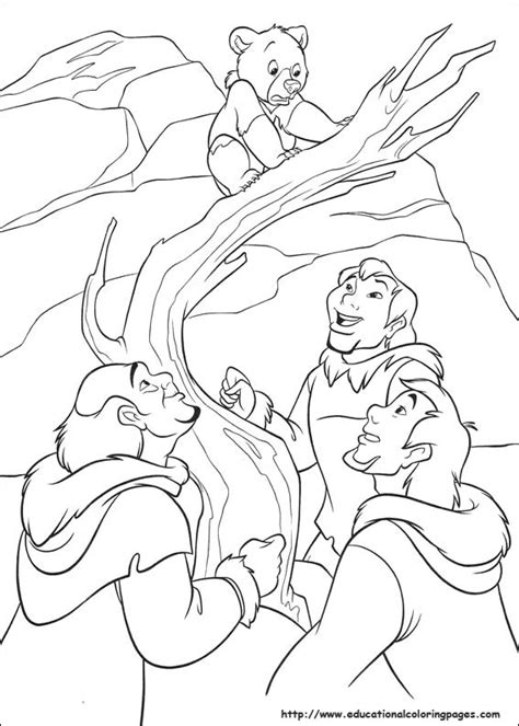 brother bear 2 educational fun kids coloring pages and
