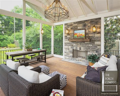 screened in porch designs with fireplace screened porch and garage oasis the porch companythe
