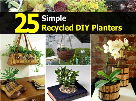 Diy Recycled Planters by 25 Simple Recycled Diy Planters