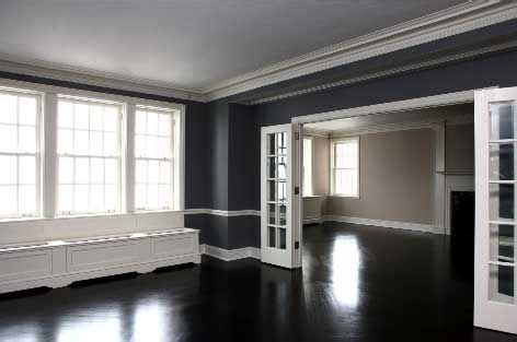gray walls black trim black wood floor white trim gray walls floors