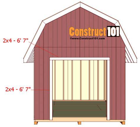 Shed Plans 10x12 Gambrel by Shed Plans 10x12 Gambrel Shed Construct101