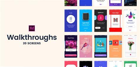 20 Walkthrough Screens For Adobe Xd Xdguru Com Free Xd Templates