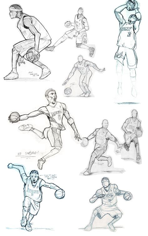 Basketball Play Drawer by Basketball Sketches By Fatratking On Deviantart