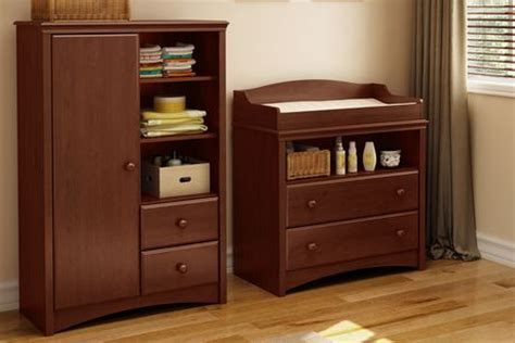 South Shore Sweet Morning Changing Table South Shore Sweet Morning Changing Table And Armoire With Drawers Royal Cherry Walmart Ca