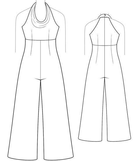 overall with draped neckline sewing pattern 2028 made
