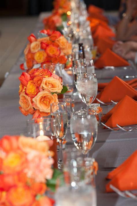 25 best ideas about orange wedding decor on orange wedding centerpieces orange