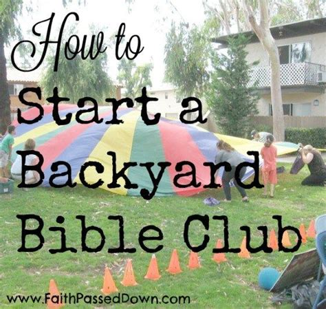 backyard bible club 1000 images about bible lessons on pinterest