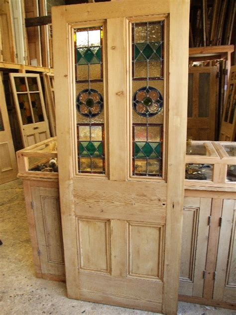 Reclaimed Stained Glass Doors Antique Reclaimed Stained Glass Front Door Stained Glass Doors Company