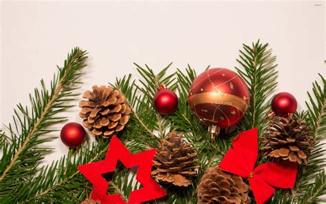 red christmas decorations christmas wallpaper 22228020 red christmas ornaments on fir wallpaper holiday