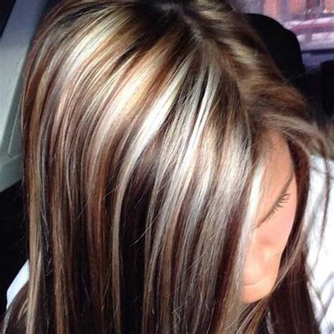 dark brown lowlights and highlight hair color with side 40 blonde and dark brown hair color ideas hairstyles