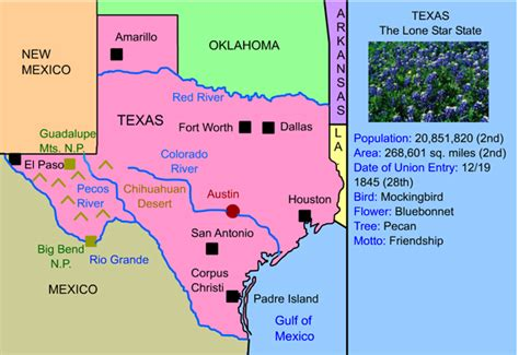 texas landform map texas landforms map my