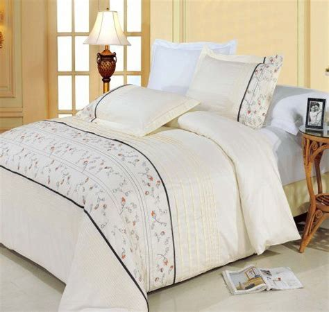 egyptian cotton comforter set anna embroidered 8pc queen size bed in a bag comforter set
