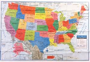 usa us map poster size wall decoration large map of united