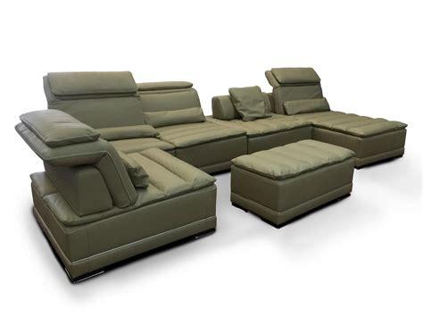 California Leather Sofa Modular Sofa With Mechanism Genuine Leather Idfdesign
