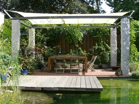 pavillon für den garten idee balkon sonnensegel