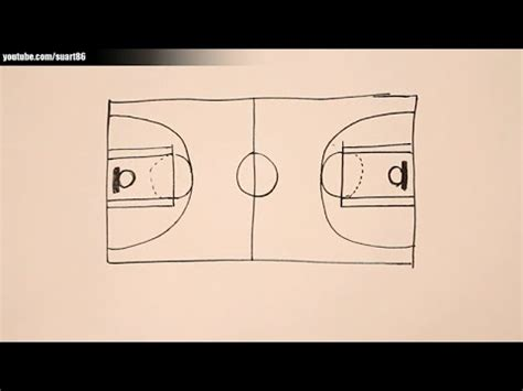 How To Draw A 3d Basketball Court how to draw a basketball court