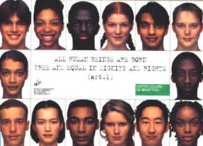 united colors of benetton ads how and why of color are included in advertising