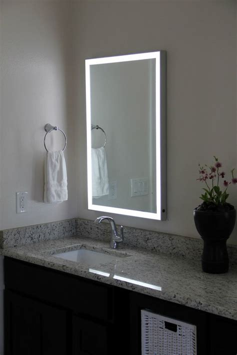 mirrors elegant backlit bathroom mirror for your modern