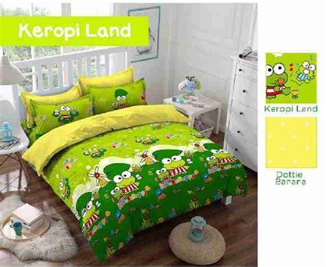 Ceria Sprei Katun Panca Land 120 X 200 X 20 Pink detail produk sprei dan bedcover keropi land toko bunda