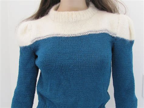 Handmade Knitted Sweaters - vintage handmade knit mohair sweater xs sm by