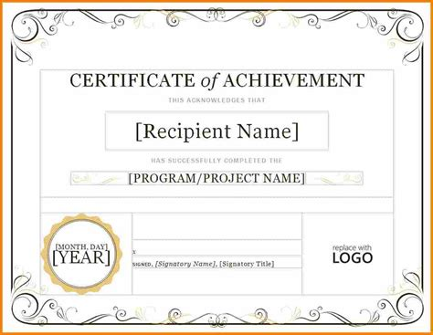 word template for certificate free fillable certificate of appreciation popular and