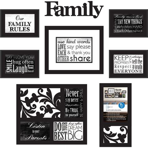 family picture frame ideas picture frames collage family walmart