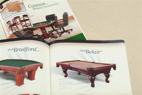 Cannon Pool Table by Cannon Billiards Table Catalog Design Typework Studio