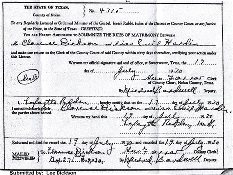 Tx Marriage License Records Txgenweb Nolan County