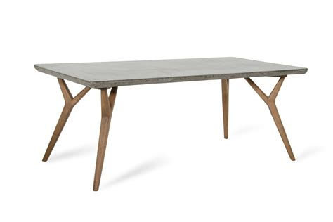Concrete Dining Table Modrest Dondi Concrete Dining Table