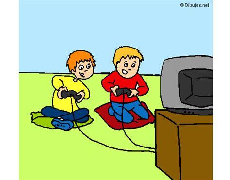 imagenes de niños jugando videojuegos animados dibujo de ni 241 os jugando pintado por marta1 en dibujos net