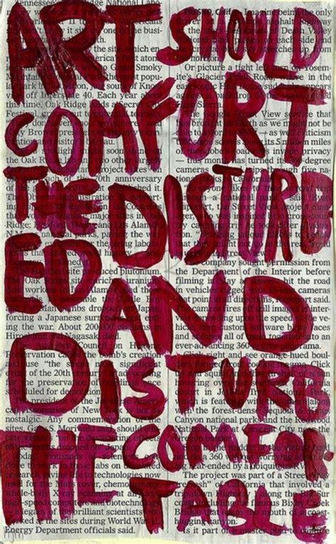 art should disturb the comfortable and comfort the disturbed cesar a cruz lettering lovelies pinterest