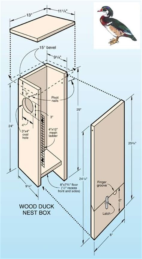 wood duck box plans woodworking projects plans