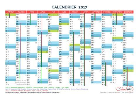 calendrier annuel 233 e 2017 avec jours f 233 ri 233 s et