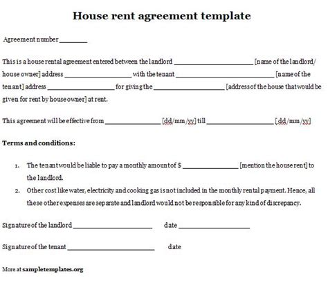 boarder agreement template printable sle simple room rental agreement form