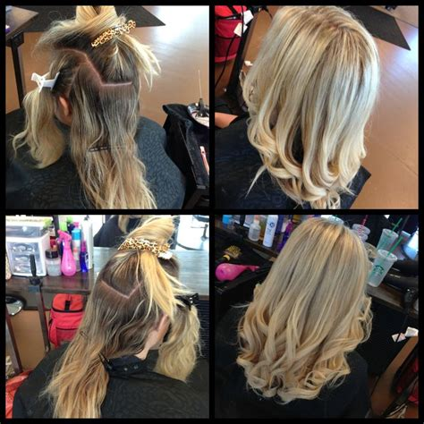 sectioning hair for a partial highlight full head of highlights before and afters fabulous
