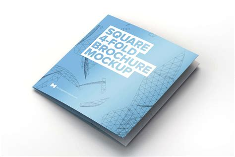 brochure mockup template square 4 fold brochure mockup 1 by original mockups on
