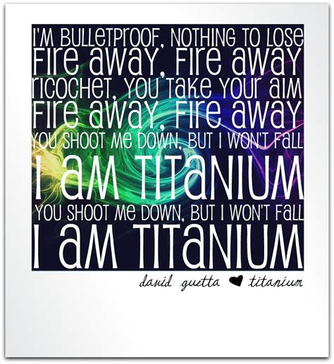 Bandul Titanium Hati You Neally david guetta titanium lyrics lyrics