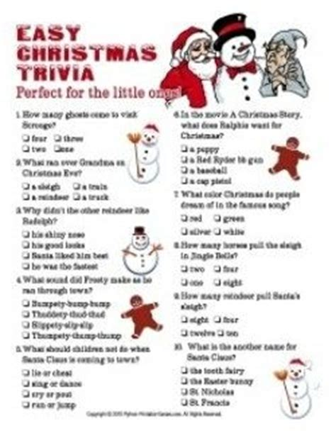 printable christmas quizzes for families christmas trivia for parties and families