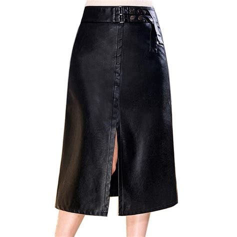 2xl 3xl 4xl new leather skirt plus size high waist