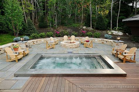 backyard spa ideas built in stainless steel hot tub with automatic cover