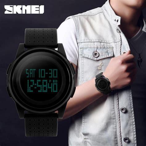 Jam Tangan Pria Original Model Casio Skmei Ad1155 Hitam Putih Murah jual beli jam tangan pria original model casio