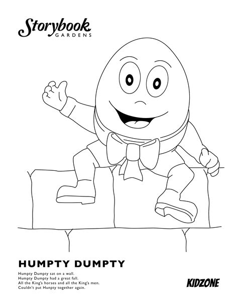 games coloring page with humpty dumpty coloring page